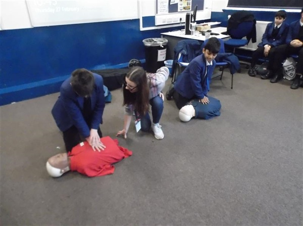 Y8 First Aid Training with British Red Cross