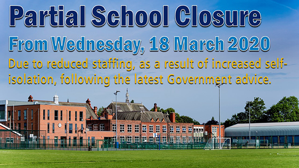 Partial School Closure due to Coronavirus